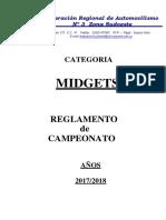 Reglamento Carrera Midgets 2017-2018