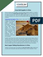 Best Crane Rail Supplier in China