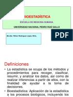 1° Clase.  Introducción a la Bioestadística (1)