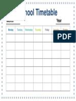 Timetable 08