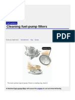 Cleaning Fuel-pump Filters