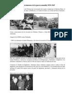 Acontecimientos de La Guerra Mundial 1939