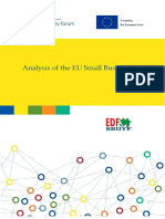 Analysis of the EU Small Business Act