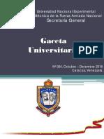 Gaceta Universitaria IV-2016