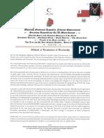 Affidavit of Termination of Trusteeship - MACN-R000000102