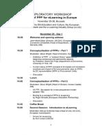 2002 Novembre - Tavolo di lavoro sulla PPP a Bruxelles