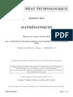 STMG Maths