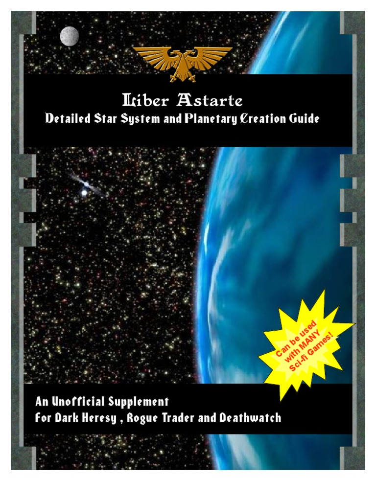 Rogue Trader Star System Creation Guide   Stars   Planets