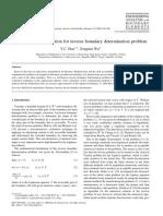 A Numerical Computation for Inverse Boundary Determination Problem