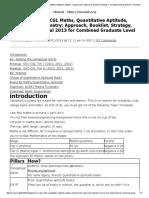 SSC-CGL Maths, Quantitative Aptitude, Algebra, Trigonometry_ Approach, Booklist, Strategy, Free Studymaterial 2013 for Combined Graduate Level Exam Tier 1, 2 - Mrunal