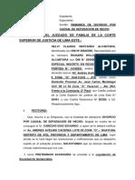Divorcio Por Causal de Separacion de Hecho de Helvi Claudia Nestares Alcantara