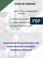 Comparativo Fines de la Educacion Superior panameña vs otros paises