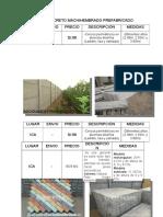 Cerco de Concreto Machihembrado Prefabricado