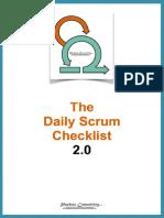 Daily scrum checklist