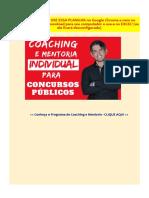 Planilha Planejamento Para Concursos Thiago Botelho vs.final CM