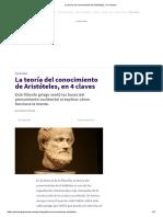 _La Teoría Del Conocimiento de Aristóteles, En 4 Claves