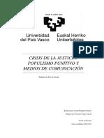 Populismo Punitivo y Medios de Comunicación