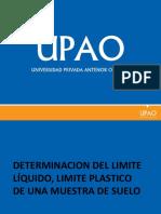 Limite Liquido y Limite Plastico