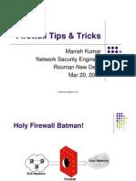 Firewall Tips Tricks