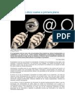 Artículo El Periodiso Vuelve a Primera Plana