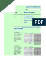 Indirect Cost Estimate