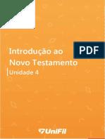 Introdução Ao Novo Testamento Unidade IV