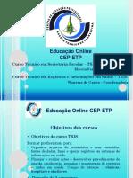 Aula Inaugural EaD CEP-ETP