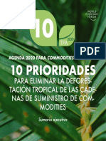 Agenda 2020 Para Commodities y Bosques