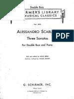Alessandro Scarlatti - Tre Sonate Per Contrabbasso e Continuo