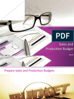 What is sales and production budget