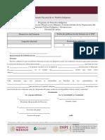Formato 1 Solicitud de Apoyo Proyectos de Cultura 2019 Formato 2019 Editable