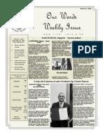 Newsletter Volume 10 Issue 21