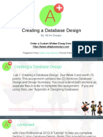 Creating a Database Design