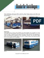 Mondorfer Bastelbogen - Linie 501 MAN SL 200
