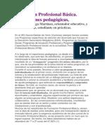 Formación Profesional Básica.  Aportaciones  pedagógicas.