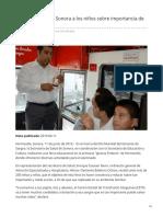 11-06-2019 - Concientiza Salud Sonora a los niños sobre importancia de donar sangre - Termometroenlinea.com.mx