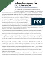 (Traduction) « Animaux de Compagnie » _ Les Problèmes Inhérents à La Domestication