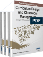 Curriculum design and Classroom Management
