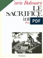 Balmary Mariw Le Sacrifice Interdit Freud Et La Bible 1986