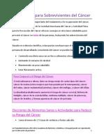 survivorship nutrition- spanish