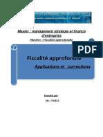 fiscalité approfondie applications et corrections Nmili