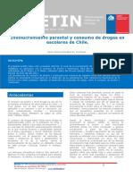 Boletin 19 Involucramiento Parental y Consumo de Drogas en Escolares de Chile