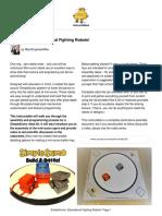 SimpleSumo Educational Fighting Robots