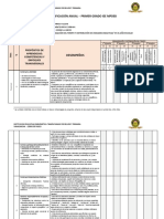 Planificacion Anual - 1º - Grado