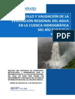 Desarrollo y Validacion de La Evaluacion Regional Del Agua en La Cuenca Hidrografica Del Rio Tunjuelo Producto3