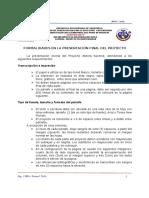 CLASE N° 05 - FORMALIDADES DE PRESENTACION DEL PSI