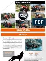 Kioti Product Range Brochure 2018 Ingles