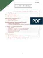 L Oscillateur OSCILLATEUR HARMONIQUE. Chapitre 1. I. Introduction, Définitions. I.1. Exemple. I.2. Caractérisation Du Mouvement