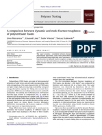 A Comparison Between Dynamic and Static Fracture Toughness of Polyurethane Foams