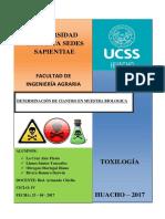 Informe de Toxicología - Cianuro